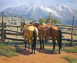 two-saddle-horses-randy-follis